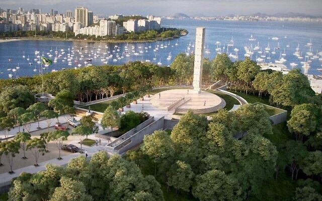A rendering of the new Holocaust memorial in Rio de Janeiro. (Memorial to the Victims of the Holocaust/Deputy Gerson Bergher via JTA)