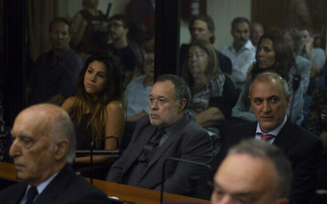 Argentine auto mechanic Carlos Telleldin looks on during his trial involving the 1994 AMIA bombing in Buenos Aires, February 28, 2019. (Matias Baglietto/NurPhoto via Getty Images via JTA)