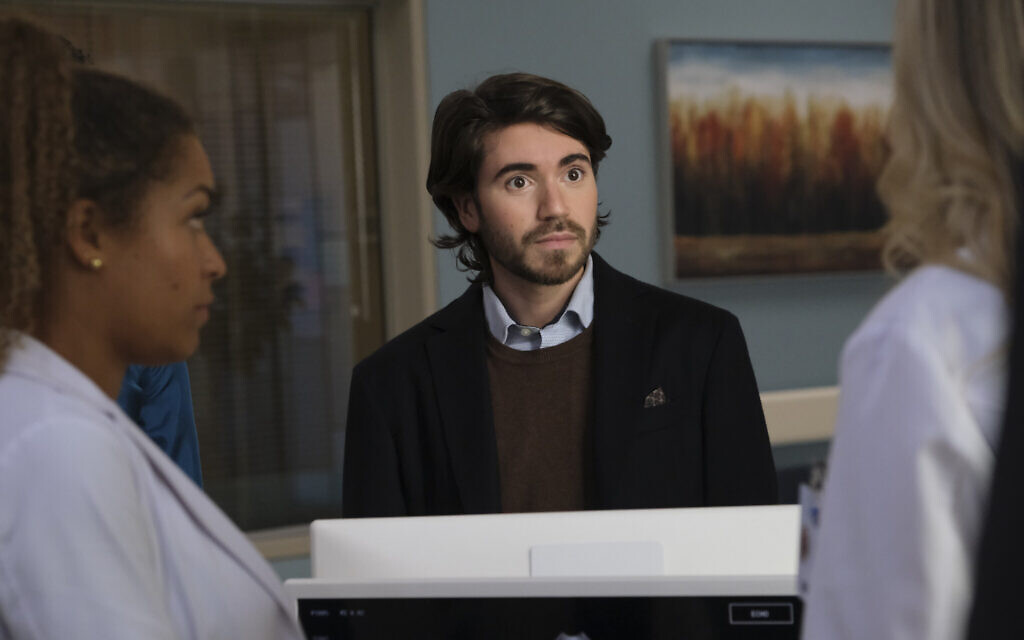 Noah Galvin as Dr. Asher Wolk on 'The Good Doctor.' (ABC/Jeff Weddell/ via JTA)