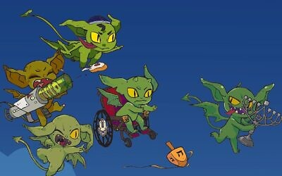Hanukkah Goblins is based on Eric Kimmel's classic children's book 'Hershel and the Hanukkah Goblins.' (Art/Kali Hayes, KH Illustration/ via JTA)