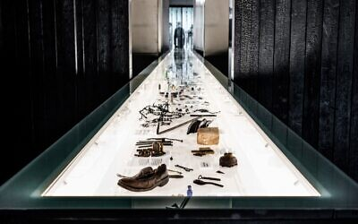 Personal belongings of the victims of Sobibor displayed at the museum, October 2020 (courtesy: State Museum at Majdanek)
