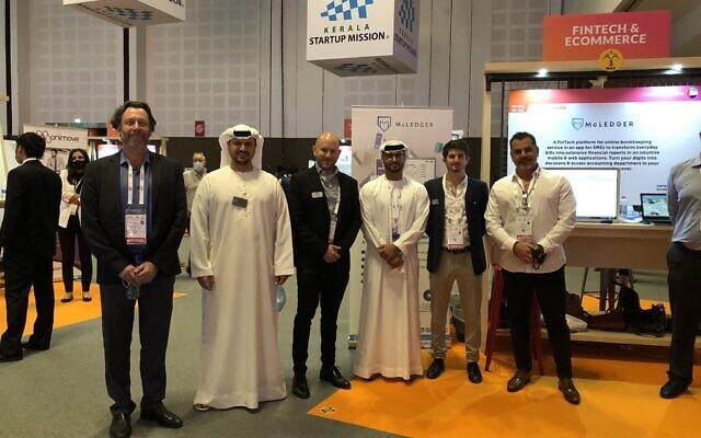 The Investination team alongside Alharith bin Salem Almoosa, Co Vice Chairman, and Ahmad bin Salem Almoosa, Co Vice Chairman of Almoosa Enterprises