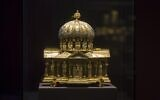 In this Jan. 9, 2014 file picture the medieval Dome Reliquary (13th century) of the Guelph Treasure, is displayed at the Bode Museum in Berlin. Jed Leiber was an adult before he learned that his family was once part-owner of a collection of centuries-old religious artworks now said to be worth at least $250 million. He is on a decades long mission to reclaim some 40 pieces of the Guelph Treasure, artwork, that his grandfather was forced to sell to the Nazis. It's a pursuit that's now landed him at the Supreme Court, in a case to be argued Monday.  (AP Photo/Markus Schreiber,file)