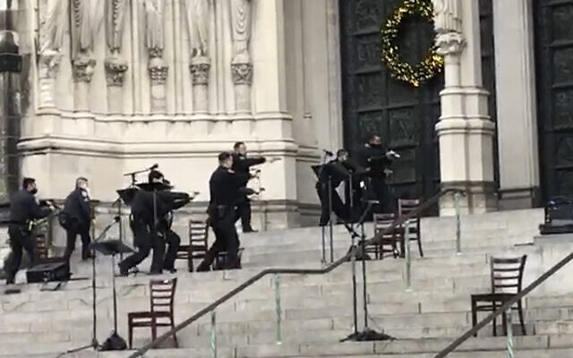 Police kill gunman who opened fire at NYC cathedral Christmas concert | The  Times of Israel