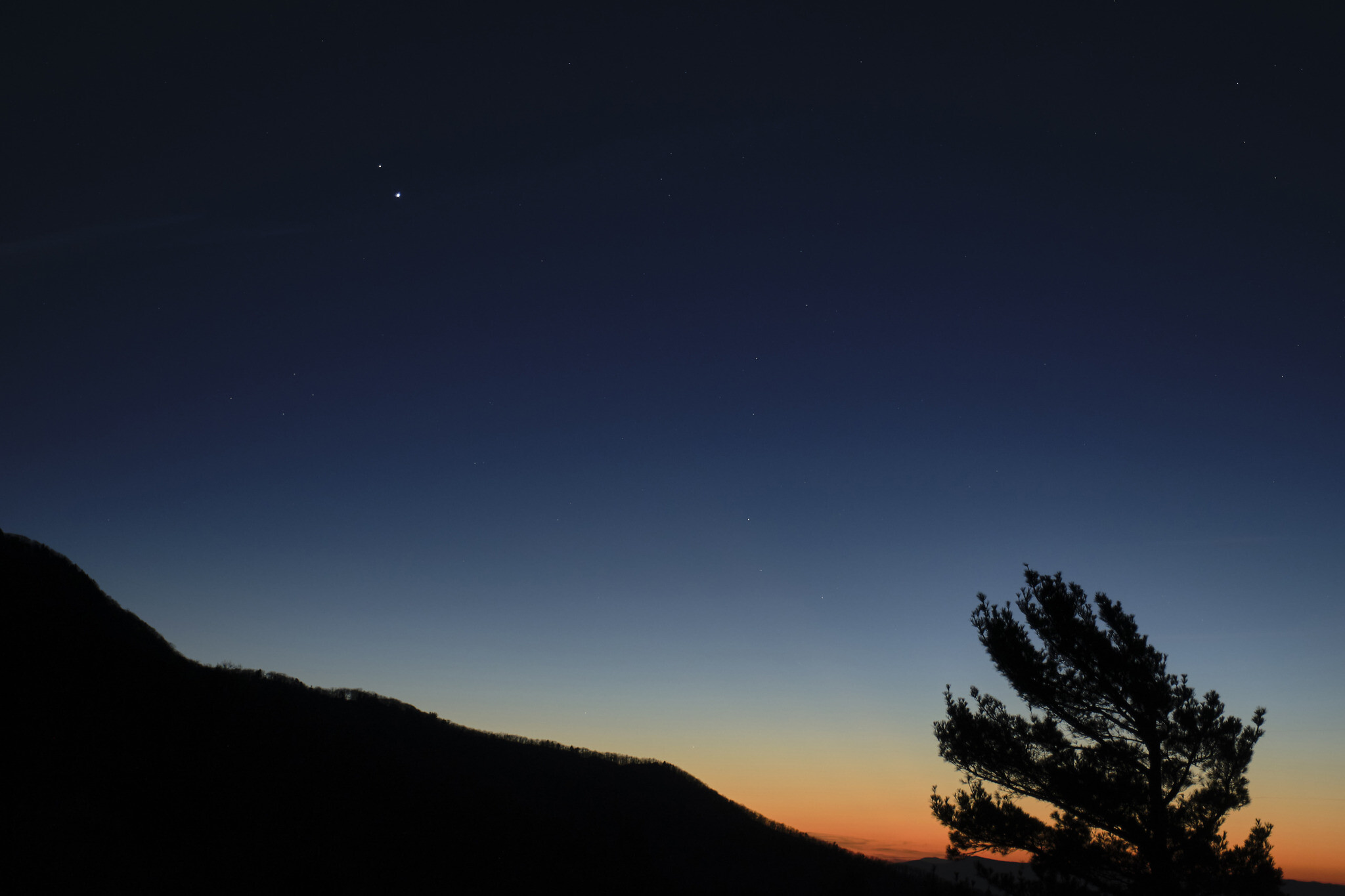 Jupiter and Saturn Great Conjunction captured in Arizona