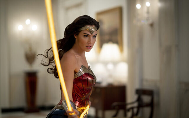 This image released by Warner Bros. Entertainment shows Gal Gadot in a scene from 'Wonder Woman 1984.'  (Clay Enos/Warner Bros. via AP)
