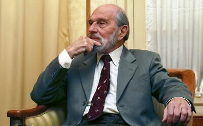 In this file photo taken in Nov. 15, 2006, George Blake, a former British spy and double agent in service of the Soviet Union, seen in Moscow, Russia (AP Photo, File)