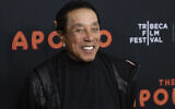 """Smokey Robinson attends the screening for """"The Apollo"""" during the 2019 Tribeca Film Festival at the Apollo Theater on Wednesday, April 24, 2019, in New York. (Photo by Charles Sykes/Invision/AP)"""
