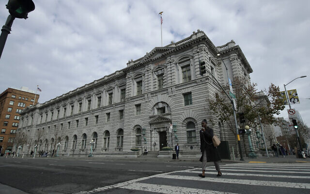 The James R. Browning United States Courthouse building, a courthouse for the US Court of Appeals for the Ninth Circuit, is shown in San Francisco, Jan. 8, 2020. (AP Photo/Jeff Chiu)