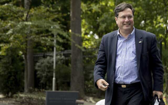 In this Oct. 5, 2016, file photo American political operative Ron Klain arrives at Democratic presidential candidate Hillary Clinton's home in Washington (AP Photo/Andrew Harnik, File)