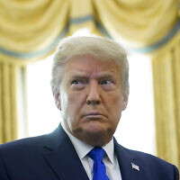US President Donald Trump in the Oval Office of the White House, December 7, 2020, in Washington. (AP Photo/Patrick Semansky)