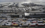 Lorries queue at check-in at the port in Dover, December 11, 2020 (AP Photo/Frank Augstein)