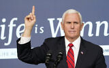US Vice President Mike Pence speaks during a Life Is Winning event in the South Court Auditorium on the White House complex in Washington, December 16, 2020. (AP Photo/Susan Walsh)