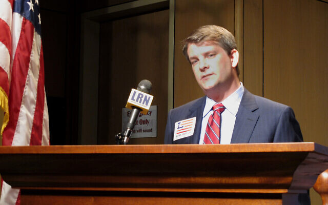 Luke Letlow speaks after signing up to run for Louisiana's 5th Congressional District in Baton Rouge, Louisiana, July 22, 2020. (AP Photo/Melinda Deslatte, File)