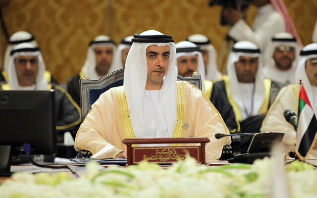 Illustrative: UAE Interior Minister Sheik Saif bin Zayed Al Nahyan, center, participates in a Gulf Cooperation Council interior ministers gathering to discuss regional security issues in Manama, Bahrain, Nov. 28, 2013. (AP Photo/Hasan Jamali)