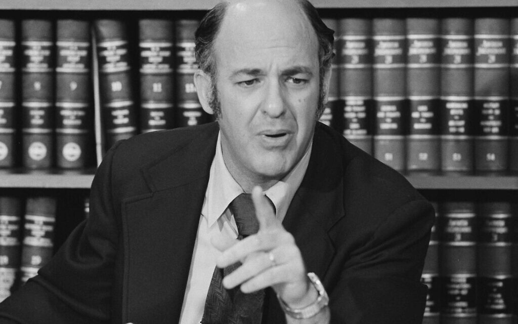 Dr. Cyril Wecht tells a Washington news conference that the Rockefeller CIA Commission report on his findings in the John F. Kennedy assassination case have been distorted, June 12, 1975. (AP Photo/Charles Bennett)