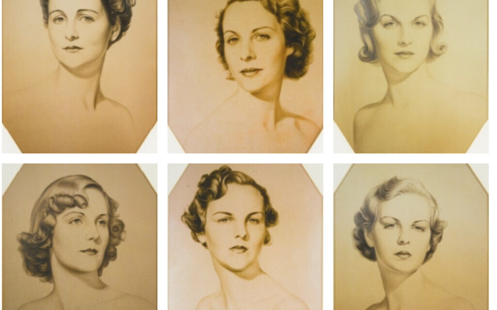 Clockwise from top left (and in order of age): Nancy Mitford, Pamela Mitford, Diana Mitford, Unity Mitford, Jessica Mitford, and Deborah Mitford (William Acton, Public domain, via Wikimedia Commons)