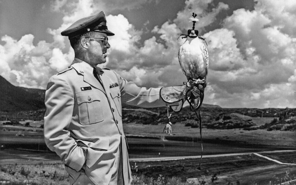 Don Galvin, the falconer. (Courtesy of the Galvin family)