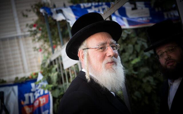 United Torah Judaism MK Yisrael Eichler in Jerusalem on September 4, 2019. (Yonatan Sindel/Flash90)