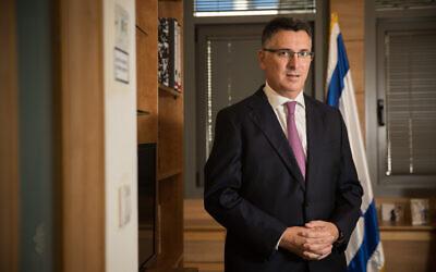 Gideon Sa'ar at his office at the Knesset on November 27, 2019. (Yonatan Sindel/Flash90)
