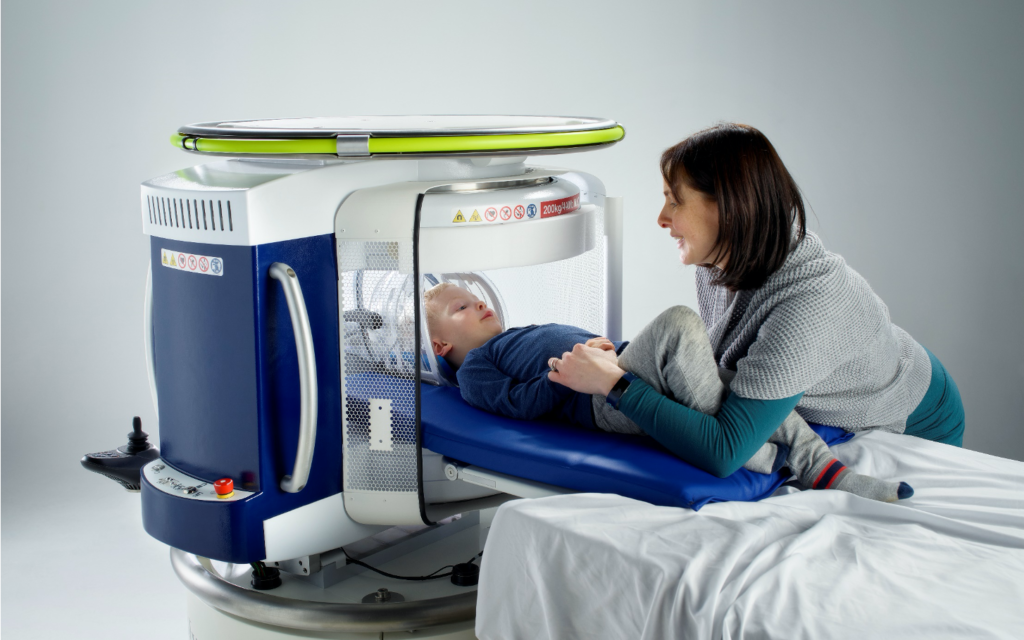 Jonathan Rothberg's portable MRI machine. (Courtesy)