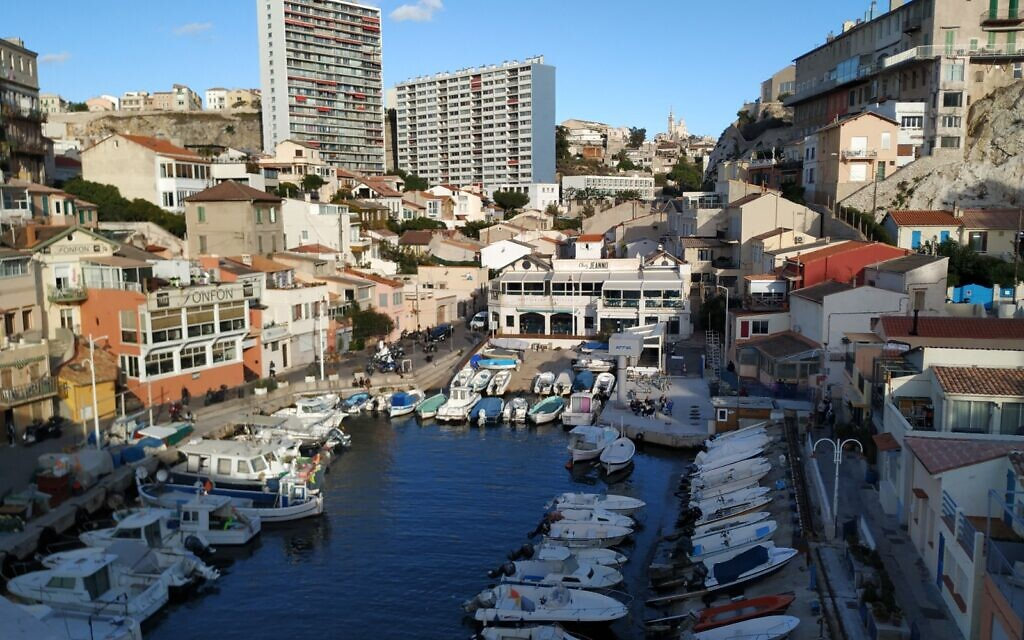 One of many small harbors in Marseille, October 2020. (Yaakov Schwartz/ Times of Israel)