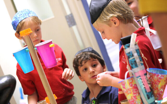 An illustrative photo of students at a Jewish day school. (Courtesy of The Epstein School via JTA)