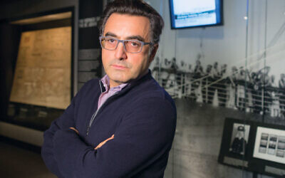 Maziar Bahari at the United States Holocaust Memorial Museum (courtesy)