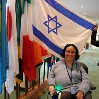 Odelia Fitoussi at the UN headquarter in New York (courtesy Israeli Mission to the UN)