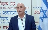 Screen capture from video of Yesh Atid MK Ofer Shelah announcing he was leaving the party to set up his own political movement, December 24, 2020. (Channel 12 news)