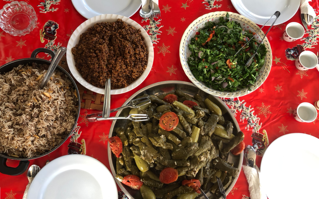 Lunch with Galileat in the Arab village of Dir Hanna, during the Western Galilee Winter Festival, December 17-19, 2020 Jessica Steinberg/Times of Israel)