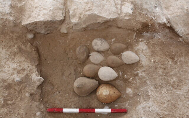 Oil lamp molds from the Islamic period (mid-7th-11th century) uncovered in the summer 2020 excavation of ancient Tiberias. (Tal Rogovenski/Hebrew University)