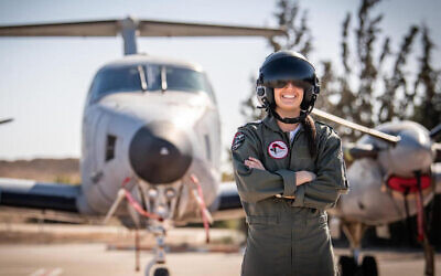 A 21-year-old, whose name has not been released by Israeli censors, is Israel's first female American air force pilot. (Israel Air Force)