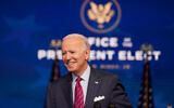 US President-elect Joe Biden speaks about jobs at The Queen theater in Wilmington, Delaware, Dec. 4, 2020. (AP Photo/Andrew Harnik)