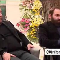 The sons of slain Iranian nuclear scientist Mohsen Fakhrizadeh in an interview with Iranian state media broadcast on December 4, 2020. (Screenshot/Twitter)