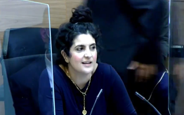 Acting Knesset Legal Adviser Sagit Afik at a House Committee discussion in Jerusalem, December 21, 2020. (Screenshot: Twitter)