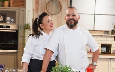 Keren and Isack Kadosh, the pastry chefs and co-owners of Jerusalem bakery Kadosh, which recently switched tokosher supervision with Tzohar and away from the Chief Rabbinate (Courtesy Kadosh)
