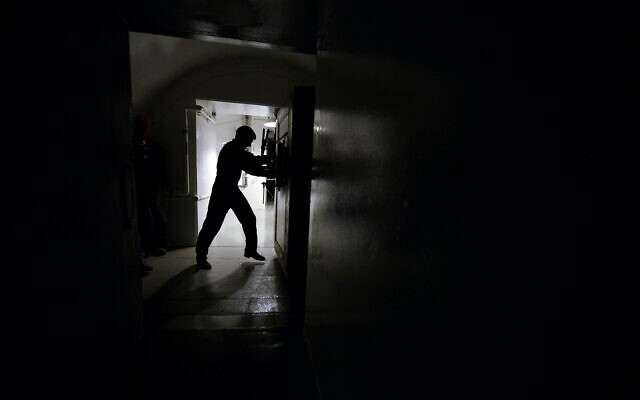 Illustrative: A blast door leading to an underground control room is opened at an ICBM launch control facility near Minot, North Dakota, June 24, 2014. US officials fear American defense and nuclear facilities were breached in a massive cyber attack linked to Russia. (AP Photo/Charlie Riedel, File)