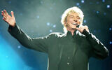 "Barry Manilow is among the performers set to appear in ""A Star-Studded Folksbiene Chanukah Spectacular,"" debuting online December 8, 2020. (Wikimedia Commons via JTA)"