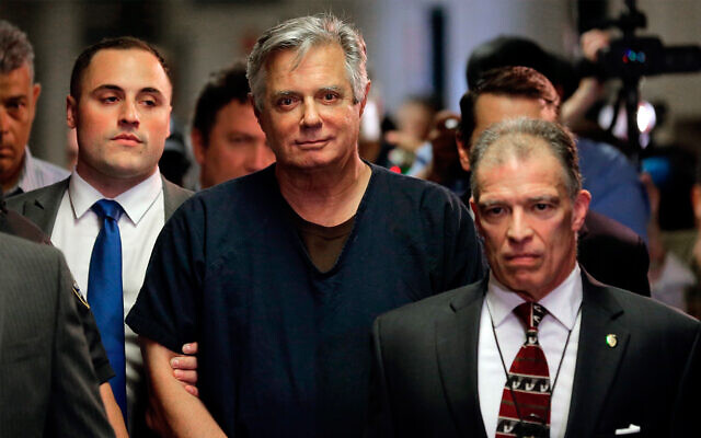 Paul Manafort arrives in court in New York, June 27, 2019. (AP Photo/Seth Wenig, File)