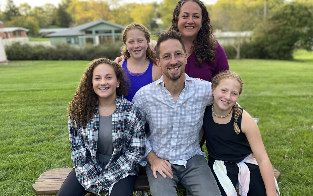 David Baron with his wife and daughters. (Courtesy of David Baron)