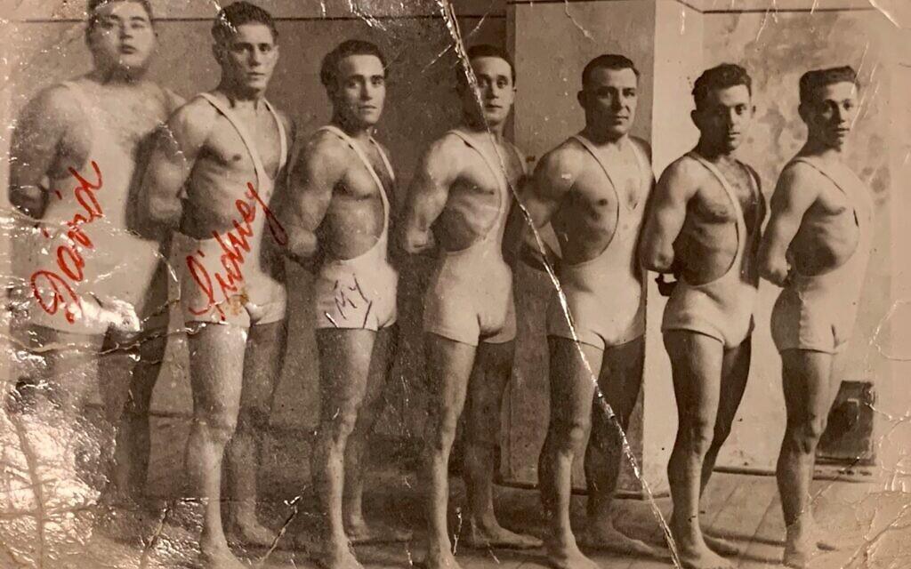 ŠK Makkabea Bratislava Sports Club c. late 1920s or early 1930s. On left are David Unreich, Zalman Unreich and Krav Maga founder Emrich (Imi) Liechtenfeld. (Courtesy of David Baron)