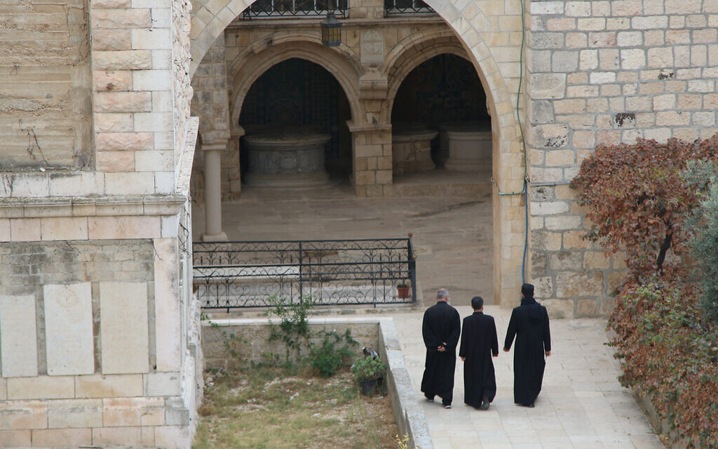 The entrace to a cemetery in the Old City of Jerusalem, seen from its ramparts. (Shmuel Bar-Am)