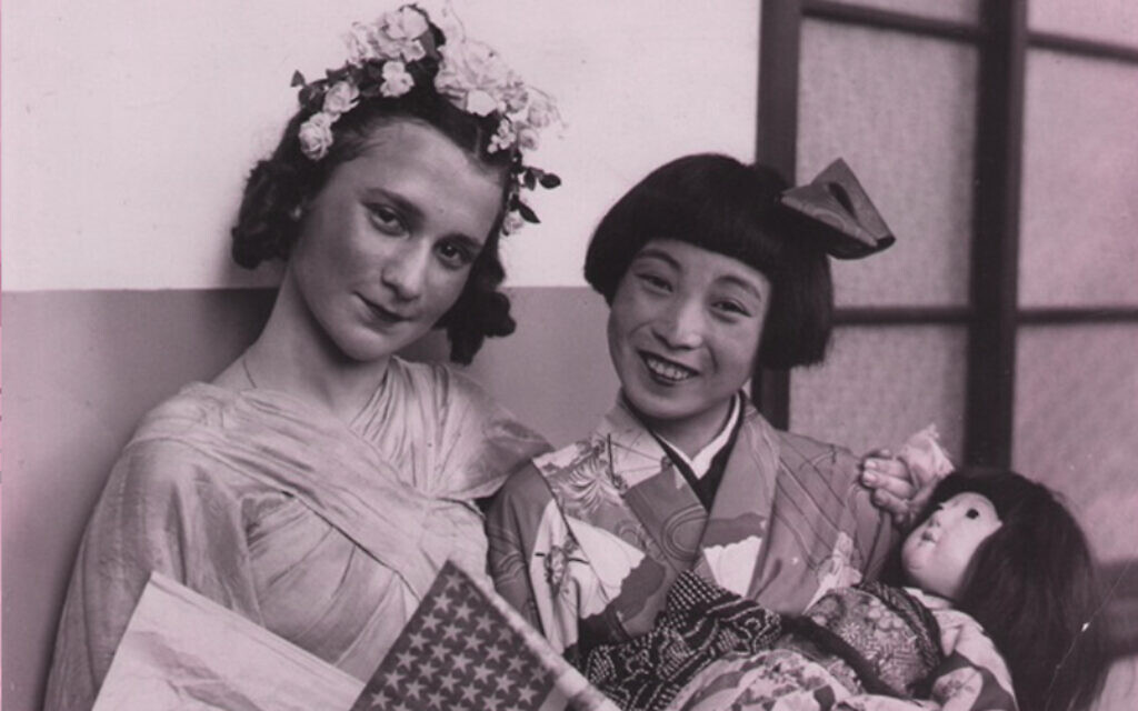 Beate Sirota Gordon at American Japanese Festival in 1938. (Beate Sirota Photo Gallery/ via JTA)