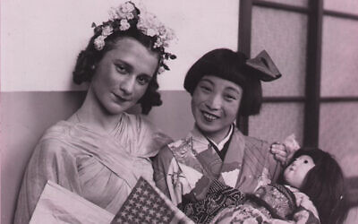Beate Sirota Gordon at American Japanese Festival in 1938. (Beate Sirota Photo Gallery/ via JTA)