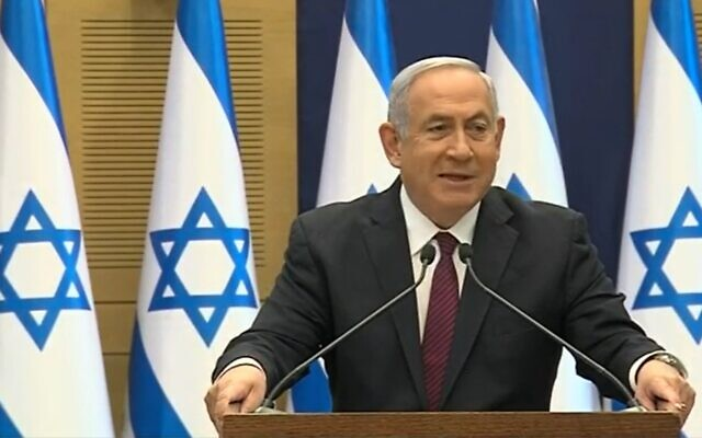 Prime Minister Benjamin Netanyahu speaking to the press on December 2, 2020. (screen capture: Channel 12)