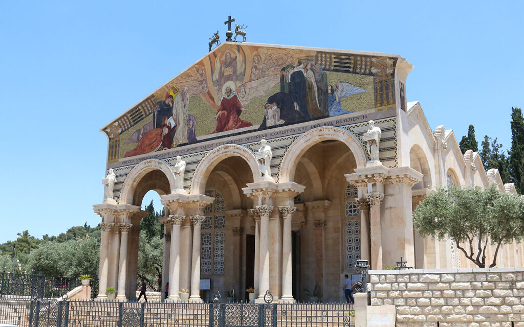 The Church of All Nations, located at the foot of the Mount of Olives. (Shmuel Bar-Am)