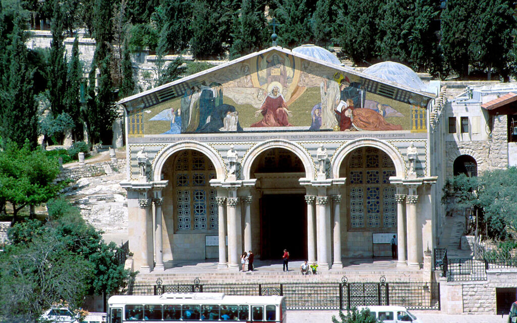 The Church of All Nations was built at the beginning of the 20th century with funding from Catholic communities worldwide. (Shmuel Bar-Am)