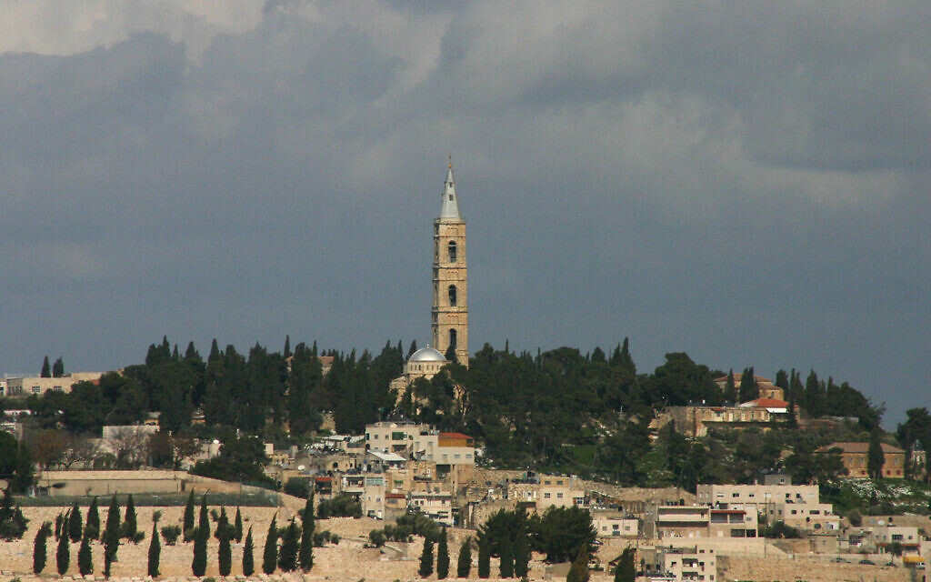 The Church of the Russian Ascension, towering over the Mount of Olives, dates back to Helena, the mother of Byzantine emperor Constantine. (Shmuel Bar-Am)