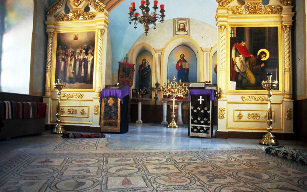 The interior of the Russian Church of the Ascension. (Shmuel Bar-Am)